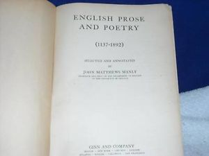 1916 English Prose and Poetry 1137 - 1892