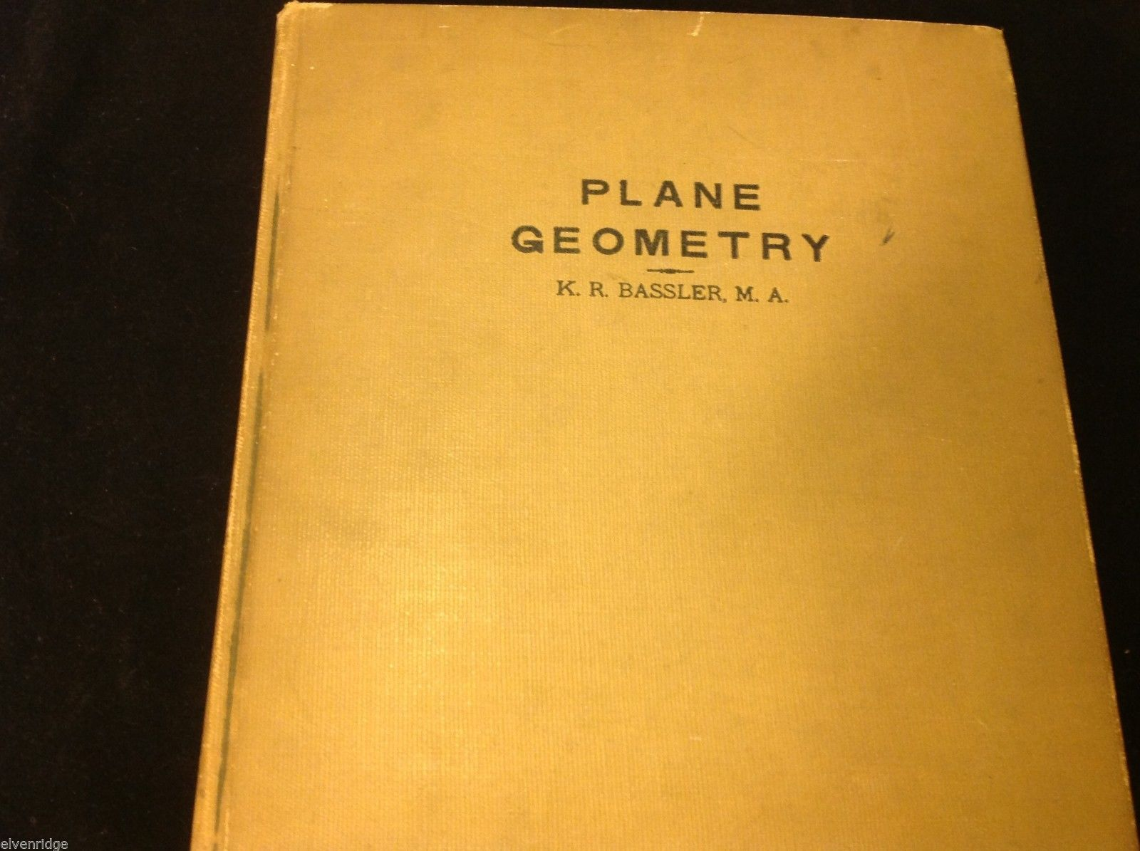 1938 Bryn Mawr School Plane Geometry by K. R. Bassler