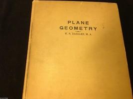 1938 Bryn Mawr School Plane Geometry by K. R. Bassler
