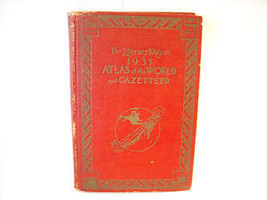 1931 Atlas of the world Gazatteer Rand McNally