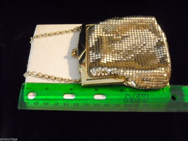 1930s Vintage Gold Lane Change Purse Whiting and Davis Co. image 2