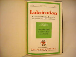 1957 Hardcover Bound Periodicals- Lubrication