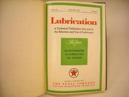 1957 Hardcover Bound Periodicals- Lubrication