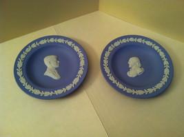 1957 Wedgwood Jasperware Plate Set - John F. Kennedy and Shakespeare Silhouette image 1