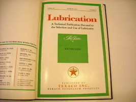 1963 Hardcover Bound Monthly Periodicals- Lubrication