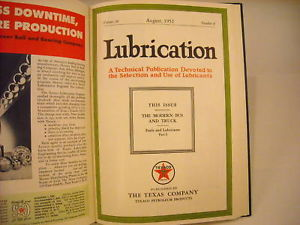 1952 Hardcover Bound Monthly Periodicals- Lubrication