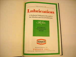 1968 Hardcover Bound Monthly Periodicals- Lubrication