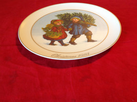 1981 Avon Christmas Tradition Collectors Plate Two Children Holding Hands image 4