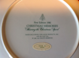 1981 Avon Christmas Tradition Collectors Plate Two Children Holding Hands image 6