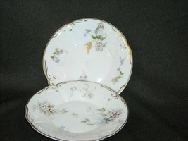 2 Antique Porcelain Floral Gold Teacup Saucer Sanssouci Germany