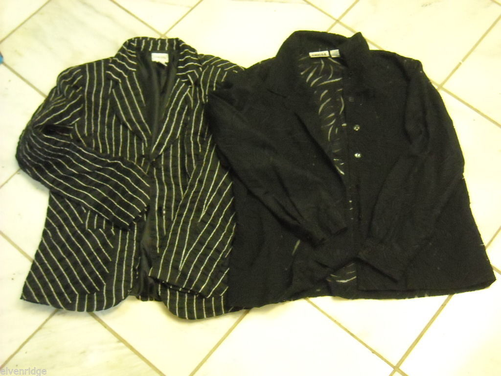 2 Women's Black Jackets by Chico's