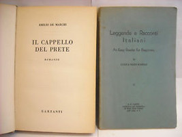 2 Italian 1950s books Borelli and Marchi