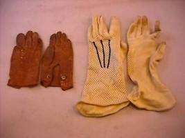 2 Pair Old Dress Gloves 1 Lady 1 Children