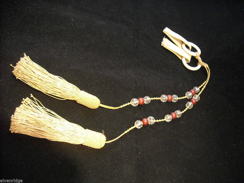 2 Matching  Beaded and Tasseled Lamp Pulls