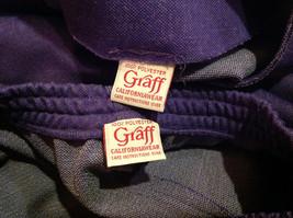 2 PC Blue Violet Open Vest Skirt Set Graff Californiawear Vest SZ  L Skirt SZ M image 11