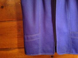 2 PC Blue Violet Open Vest Skirt Set Graff Californiawear Vest SZ  L Skirt SZ M image 3