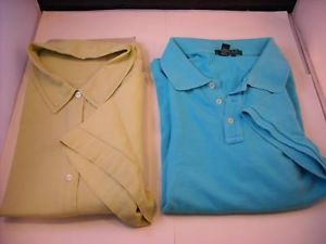 2 Short Sleeve Shirts Light Green and Turquoise 3X size