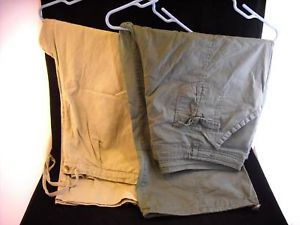 2 Pr Womens Pants Moss Green 22W Army Green 24W