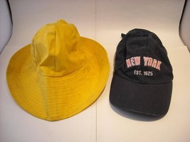 2 Small Size Hats New York Baseball Style Rain slicker - $34.64