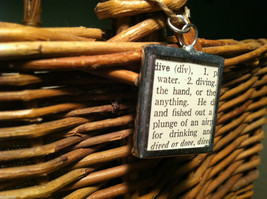 2 Sided Charm - Diver Diving w/ Definition in metal frame image 4