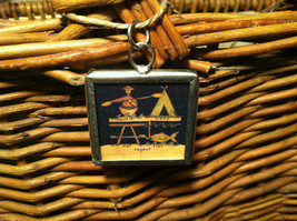"""2 Sided Charm - """"Lake Life is Best"""" and picture of Camp Site in metal frame image 2"""