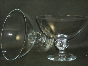2 Swedish Glass Crystal Goblet Candy Dishes