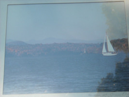 2 framed photographic images of Hudson river Poughkeepsie and Crumb Elbow Harris image 1
