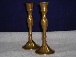 2 Solid Brass W.M. Rogers Candle Holders