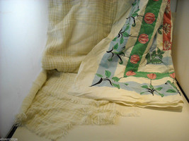 2 Table Cloths Floral Pattern and Green Pink and Blue image 2