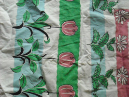2 Table Cloths Floral Pattern and Green Pink and Blue image 4
