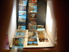 3 Postcard Books Barcelona Heidelberg Messina color