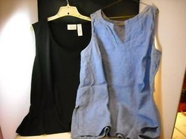 2 womans sleeveless pullover tops size 3x
