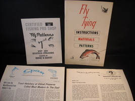 3 fliers and Paperback book on Fly Tying Anglers Instructions