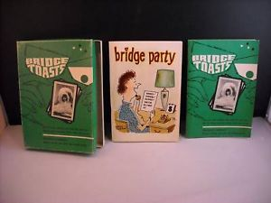 2 paper back books Bridge Toasts Bridge Party 1965