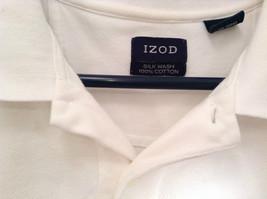 100 Percent White IZOD Short Sleeve Polo Shirt Size Large image 3