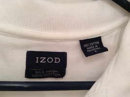 100 Percent White IZOD Short Sleeve Polo Shirt Size Large image 7