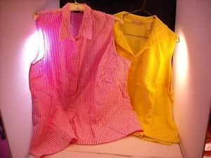 2 sleeveless ALC Kate Hiel pullover women tops size 3X