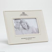 25th Anniversary Ceramic Photo Frame 25 Years of Love and Family