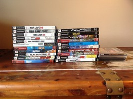 26 Games Mostly PS2 and Some PS1 Games Some Have Books