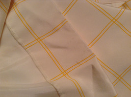 100 Percent Silk Fully Lined Natural White with Yellow Plaid A Line Skirt Size 8 image 7