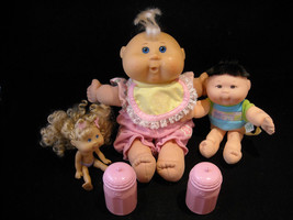 3 Different Sized Cabbage Patch Dolls, 2 Large, and 1 Small
