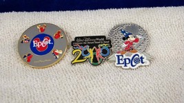 3 Walt Disney Pins Mickey Mouse epcot and millenium