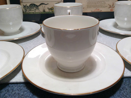 12 Piece Set 6 Cups 6 Saucers Royal Grafton Fine Bone China White with Gold Trim image 4