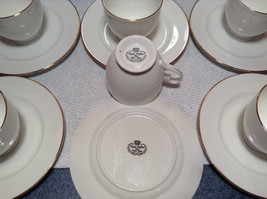 12 Piece Set 6 Cups 6 Saucers Royal Grafton Fine Bone China White with Gold Trim image 5