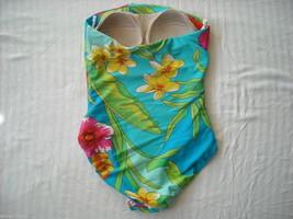 3 Bright Patterned One Piece Designer Bathing suits Lauren Speedo Nautica image 4