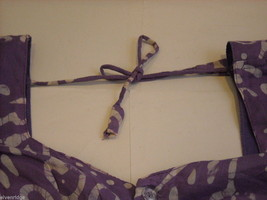3 Piece Purple and White Indian Gopi Skirt Set with Scarf image 6