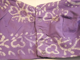 3 Piece Purple and White Indian Gopi Skirt Set with Scarf image 5