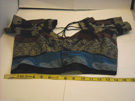 3 Piece Blue and Black Indian Gopi Skirt Set with Scarf image 8