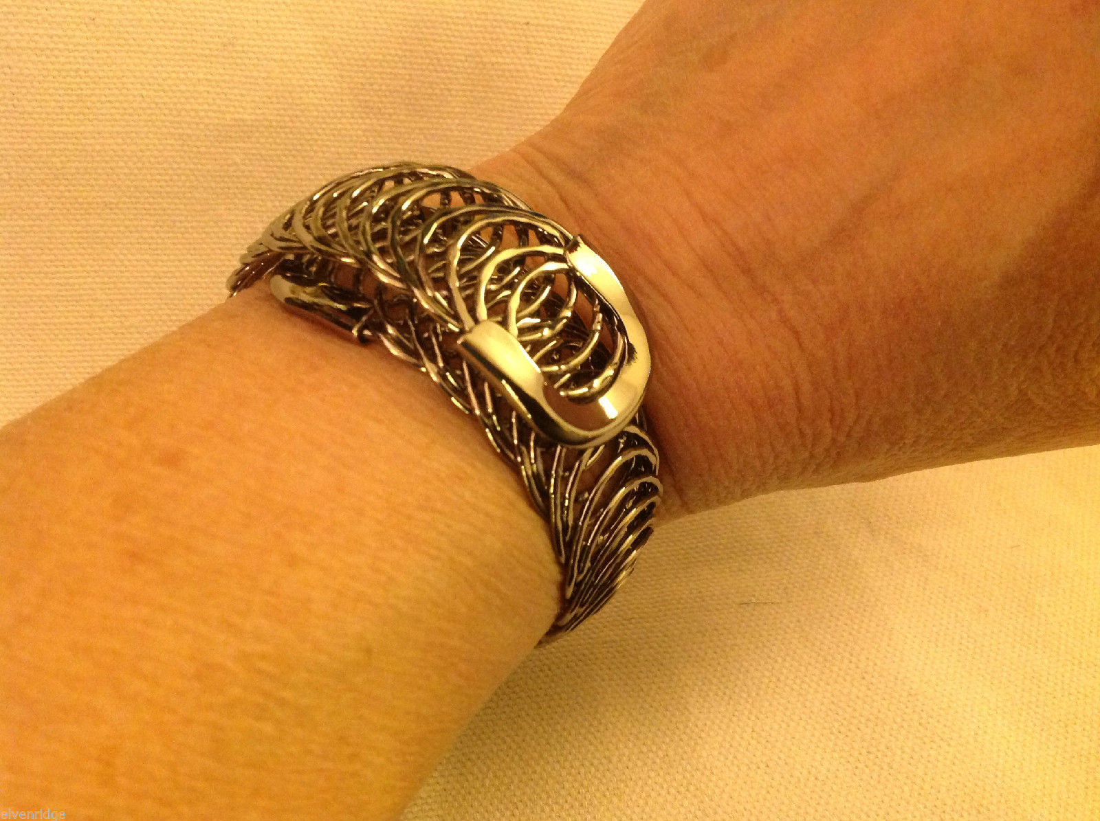 4 steampunk mod industrial black springs one size fits all bracelet cuff