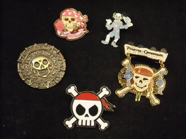 5 Disney Collectible Official Pirates of the Caribbean Trading Pin Hidden Mickey
